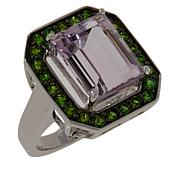 Colleen Lopez Sterling Silver Amethyst and Chrome Diopside Ring