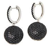 Colleen Lopez Sterling Silver Black Spinel Drop Earrings