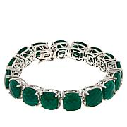 Colleen Lopez Sterling Silver Green Beryl Tennis Bracelet