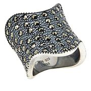 Colleen Lopez Sterling Silver Marcasite Wave Ring