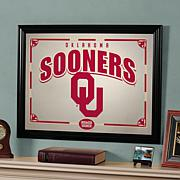 Collegiate Sports-Team Framed Mirror - Oklahoma Sooners