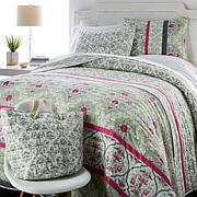 Concierge Collection 100% Cotton Quilt Set with Storage Bin