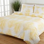 Concierge Collection Palm Print 3-pc Comforter Set w/Wrinkle Release