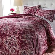 Concierge Collection Printed Velvet Comforter Set