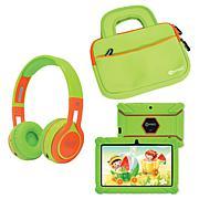 Contixo 16GB Kids Tablet w/Case, Bluetooth Headphones and Bag