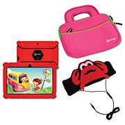 """Contixo 7"""" 16GB Kids Tablet w/Case, Fleece Headphones and Bag"""