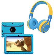 "Contixo 7"" Kids Tablet w/Case, Bluetooth Headphones and 16GB Storage"