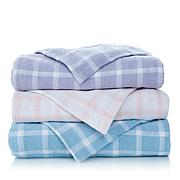 Cottage Collection 100% Cotton Plaid Blanket