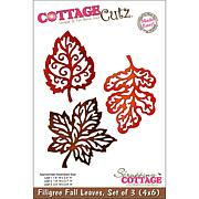 "CottageCutz ""3 Filigree Fall Leaves Made Easy"" Die"