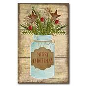 "Courtside Market Merry Christmas Jar 12"" x 18"" Wood Art"