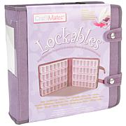 Craft Mates Lockable Organizer with Suede-Like Cover