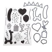 Crafter's Companion Balloon Celebration Essentials Stamp and Die Set