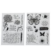 Crafter's Companion Butterfly Collage Image & Background Stamps