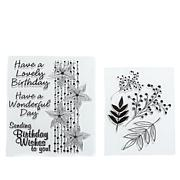 Crafter's Companion Chloe Stamps - Flower/Foliage