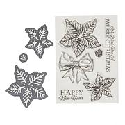 Crafter's Companion Christmas Stamps & Dies - Poinsettia