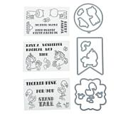 Crafter's Companion Quirky Character Spin Stamp and Die Set