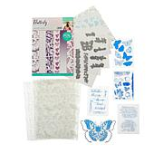 Crafter's Companion Sara Signature Flutterby Stamps, Dies & Paper Kit