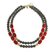 Cristina Sabatini Elba Red and Gray Agate Bead Necklace