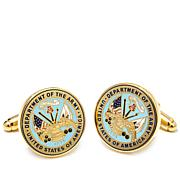 Cufflinks,Inc. Men's  U.S. Army Military Seal Cuff Link