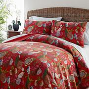 Curations 100% Cotton Kantha Coverlet 3-piece Coverlet Set - Red