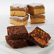 David's Cookies 16-piece Brownies & Crumb Cakes Assortment w/Boxes