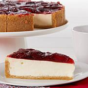 "David's Cookies Set of 2 10"" Strawberry Cheesecakes Receive by Easter"