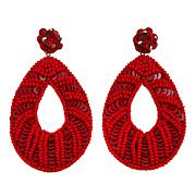 deepa by Deepa Gurnani® Oval Beaded Sequin Earrings