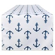 """Design Imports 14"""" x 108"""" Anchors Print Outdoor Table Runner"""