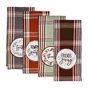 Design Imports Gathered Together Embellished Kitchen Towel Set of 4