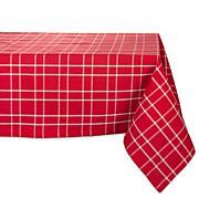 Design Imports Holly Berry Farmhouse Plaid Tablecloth