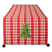 Design Imports Jolly Tree Reversible Embellished Table Runner- 14x108