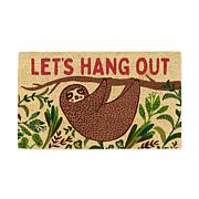 """Design Imports """"Let's Hang Out"""" Sloth Doormat"""