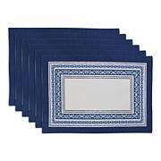 Design Imports Porto Stripe Print Placemat 6-pack