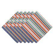 Design Imports Set of 6 Little Picante Stripe Napkins