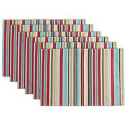 Design Imports Summer Stripe Outdoor Placemat Set of 6