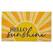 Design Imports Yellow Hello Sunshine Doormat