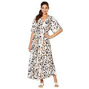 DG2 by Diane Gilman Printed Tie-Waist Maxi Dress