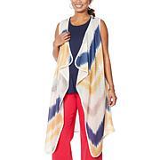 DG2 by Diane Gilman Sleeveless Tie Dye Duster