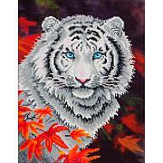Diamond Dotz Diamond Embroidery Facet Art Kit  - White Tiger in Autumn