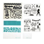 Diamond Press Glamper Life Coordinating Stamp and Die Set