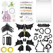 Diamond Press Halloween Flying Bat Card Kit