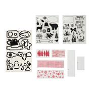 Diamond Press White Christmas Stamp and Die Set