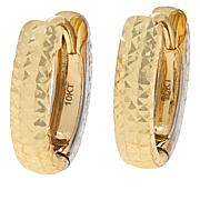 Dieci 10K Gold Two-Tone Diamond-Cut Reversible Hoop Earrings