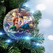 Disney Thomas Kinkade StarFire Prints™ Little Mermaid Hanging Glass