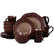Elama's Salia 16-piece Stoneware Dinnerware Set