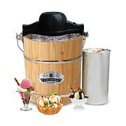 Elite Gourmet 4-Qt. Old Fashioned Pine Bucket Electric Ice Cream Maker