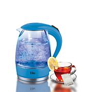 Elite Platinum Cordless 1.7-Liter Glass Kettle - Blue