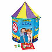 Etna Toys 3-in-1 Tent Target Game, Tic Tac Toe & Ring Toss
