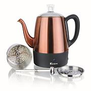 Euro Cuisine Electric Percolator - in Copper Finish