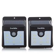 EverBrite™ Deluxe 2pk Solar-Powered Outdoor Lights